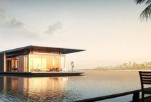 FLOATING HOUSE / Projekt wykonany dla francuskiej firmy H2ORIZON która specjalizuje się w konstrukcjach pływających. Wizualizacje: Dymitr Malcew