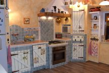 Épített konyha / Self made kitchen / Our kitchen. We love country, shabby chic, provence style..