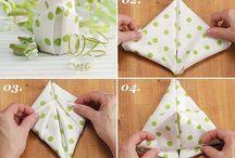folding napkins