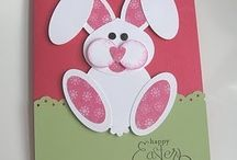 Easter craft, bunny punch art / Easter bunny punch art