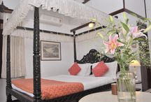 Panjim Inn / Built in the 1880s, Welcomheritage Panjim Inn is amongst the first big Colonial Mansions of Fontainhas. A Catholic home, it was built by Francis Assis D'Silveira, a Landed Gentleman and Successful Businessman and has been owned by the same family over 5 generations. It has been diligently renovated and restored to recapture the nostalgia, distinctiveness and elegant old-world charm of an era long gone bye.