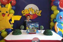 Fiesta pokemon / Decoramos la fiesta de tus sueños, llámanos al 3163190898 en Bogotá. www.beuladecoraciones.com.co