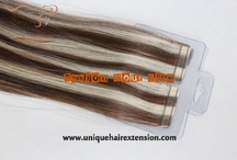 Tape In Hair Extensions / Tape In Hair Extensions factory,100% premium quality human hair extensions,Manufacturer by Qingdao Unique Hair Products Co.,Ltd.  0.8X4cm/pcs,40pcs/pack,use new technology to produce,sewn hair with thread first, the hair very strong,no shedding,welcome to visit our website www.uniquehairextension.com or our blog www.uniquewig.blogspot.com  or email us  sales@uniquehairextension.com  or uniquehairextension@gmail.com for more information ! WhatsApp: +8613553058361