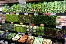 Retail departments / The different look and feel of departments in a food store