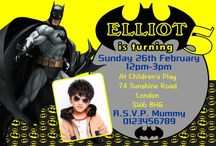 Batman Birthday Party Invitations / Batman Birthday Party Invitations