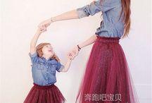 φορεματα  ίδια μαμάδων και παιδιών