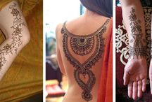 Henna / Mehndi Tattoos / http://fabulousdesign.net/henna-tattoo-designs/