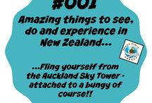 Things to see and do in New Zealand / There are a gizillion amazing things to see, do and experience in New Zealand... We'll scratch the surface with this board and inspire you to get on a plane and get on over to NZ!!