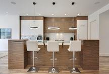 Modern Kitchens for Practical Family Living / Modern kitchens for family living.