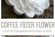 coffe filter flower