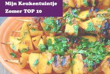Zomer top 10 / Mijn Keukentuintje heeft weer de zomer top 10 samengesteld met heerlijk fruit, groenten en kruiden