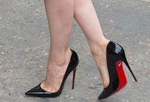high heels in bed