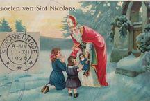 Sinterklaas / Saint Nicolas  cards / nostalgische Sinterklaas kaarten.