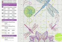 Cross - stitch - Flowers / Cross stitch patterns with a flowery/garden theme