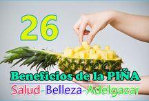 LOS BENEFICIOS DE LA PIÑA / La piña es uno de los frutos mas nutritivos y saludables, para cualquier tipo de dieta, no dudes en comer piña en todas sus presentaciones.
