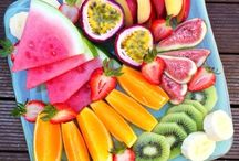 Fruit bowls and salads