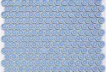 Round & Round We Go...  (Penny Round Tile) / Penny round mosaic tile for kitchen, bath, fireplace and commercial spaces.