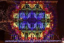 Advent a Hegyvidéken - Night Projection fényfestés / Advent a Hegyvidéken - Night Projection fényfestés