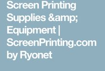 Screen Printing machines / Screen printing has come to be incorporated in the art world.
