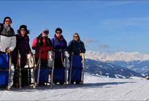 Tobogganing in the Dolomites