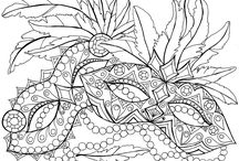 Holiday Coloring Pages / A collection of holiday-themed printable coloring pages. All of these pins are checked for ACTUAL printable pages or images. :)