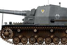 WW2 - DICKER MAX / 10.5 cm K18 auf Panzer Selbstfahrlafette IVa(Dicker Max) –niemieckieprototypowesamobieżne działo przeciwpancernezbudowane na podwoziu czołguPzKpfw IV Ausf. E, uzbrojone w działo10,5 cm K 18 L/52.