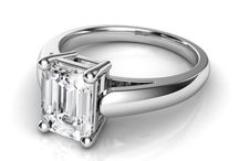 Emerald Cut Solitaire Diamond Engagement Rings