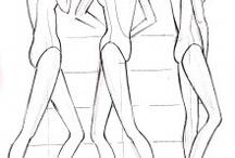 Sketch fashion position