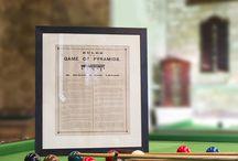 Antique Framed Rules. Snooker, Billiards, Pool, Pyramids / Original antique rules.  Framed rules of the game for snooker, billiards, pool and pyramids. All rules are original. Some have been re-framed.