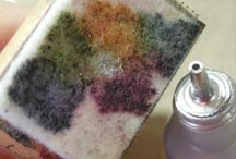 Alcohol ink and ice resin, etching and enameling