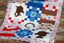 cowboy cowgirl / Lil' Cowboy quilt by @doohikeydesigns pattern available at digiplayground.com. Fabric by Samantha Walker for Riley Blake Designs. #cowboy #littlecowboys #cowboykids #cowboyfabric