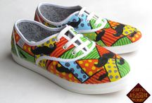 painted shoes design