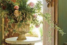 Flowers arranged