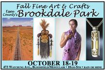 2014 Fall Fine Art & Crafts at Brookdale Park / Brookdale Park, located a half mile from the Garden State Parkway, a few minutes from affluent, arty Montclair, is a lovely setting for a quality outdoor fine art and fine craft show. The event, presently in its 26th year in the spring and 15th year in the fall. This show was selected as one of Sunshine Artists Magazine's top 100 shows in the country. The free to the public event runs from 10am-5pm.