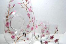 ζωγραφική σε ποτήρια