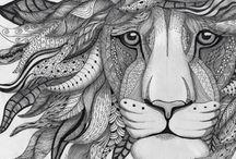 Art project: zentangle,doodling / zentangle, doodling
