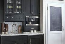 Inspiration-Pantry and Coffee Bar / pantries, pantry, coffee bar, butler's pantry, painted cabinet, kitchen cabinet, walk in pantry, kitchen, kitchen decor, pantry ideas, dream pantry