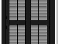 Full Height Window Shutters / Full Height Shutters are possibly our most popular style due to their aesthetic appeal, simplicity and the wide variety of windows they fit into.  Full height plantation shutters generally come in square or rectangular shutter panels and span the full height of your window or door frame. For ease of use, one control mechanism is fitted to each panel. Alternatively you can opt for the mid-rail privacy option where panels are split into separately operable louvre sections.