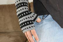 Crochet Fingerless Gloves & Leg Warmers