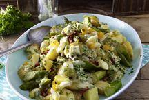 Salat - Kartoffeln und Nudeln