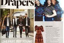 Drapers Magazine / Ruby Rocks being featured in Drapers magazine!