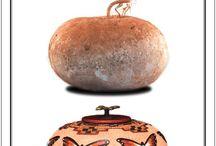gourd crafting/labu botol