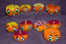 Painted pumpkins By J Kendall Art / by John Contois
