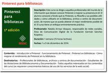 Curso SEDIC / Tablero colaborativo con los alumnos del curso Pinterest para bibliotecas
