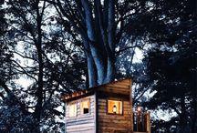 Einfaches baumhaus