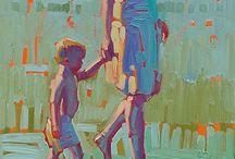 People painted