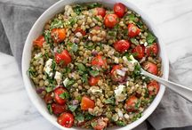 Marinated lentil salad