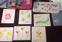 Carimbando com os dedinhos / Desenhos, cartões e lindas lembranças com o carimbo de dedos