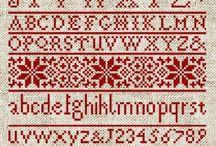 Betűk / Különböző hímzett betűtípusokat gyűjtöttem ide.