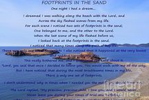 Footprints in the Sand Art / Footprints in the Sand displayed on some of my paintings and photographs.